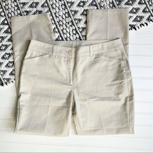 SHARAGANO Khaki Straight Leg Pants